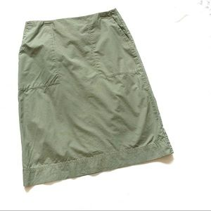 J Crew khaki green patch pocket pencil skirt